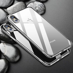 For Apple iPhone Xs Max 8 7 6s Case Crystal Clear Case Hard Plastic Cover Skin