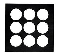 7 Gypsie's 8x8 Wood Insert Black w/ Round Holes for Shadowbox 12671 Shadow Box