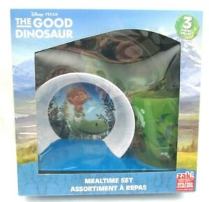 The Good Dinosaur Mealtime Dinnerware Set Includes Plate Bowl and Cup-Brand New