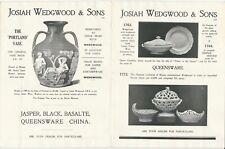 1930s Josiah Wedgwood & Sons Pottery & Porcelain Counter Catalog -Jasper & More