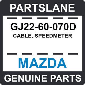 GJ22-60-070D Mazda OEM Genuine CABLE, SPEEDMETER
