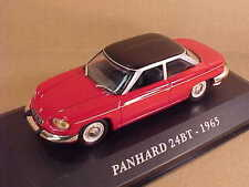 Altaya 1/43 Diecast 1965 Panhard 24BT Coupe w/LHD, Red with Black Roof  #AFCY16
