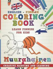 Coloring Book: English - Finnish I Learn Finnish for Kids I Creat by Nerdmediaen