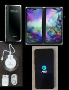LG G8X ThinQ LMG850UM 128GB Aurora Black.,AT&T, GSM, IUNLOCKED, WITH DUAL SCREEN