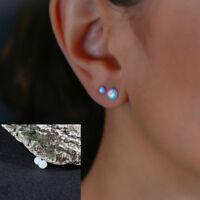For Women Silver Jewelry Fashion Ear Cartilage Ear Stud Opal Stone Earrings