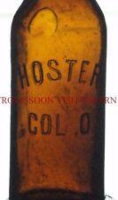 1910s Hoster Columbus Ohio Embossed Beer Bottle Tavern Trove