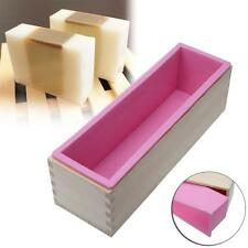 1200g Rectangle Silicone Soap Loaf Mold Wooden Box BzY Making Tools 1200G New Bz