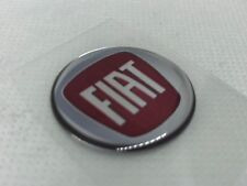 2 pcs. Fiat logo badge sticker. 30mm. Domed 3D Stickers/Decals.