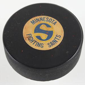 1970s Minnesota Fighting Saints WHA Team Converse GAME USED Hockey Puck