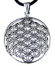 Blume des Lebens Anhänger 925 Silber mit Band Flower of Life Harmonie Nr. 95: