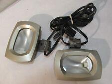 GE UCH1P-120V Lighting Puck Fixtures, 2 Puck Lights, Brown & Gold - Works!