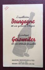 BUVARD Publicitaire Ancien. Vin. Bourgogne GEISWEILER. Nuits Saint Georges.