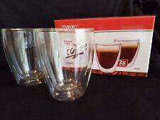 Thermo Kaffee Gläser 4 er Set Doppelwandig Schwebe-Effekt je 235 ml *Hammer*