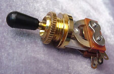 HIGH QUALITY 3 WAY TOGGLE SWITCH - ELECTRIC GUITAR GOLD