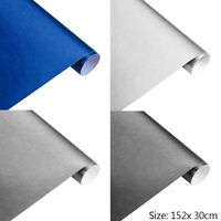 New Matte Brushed Car Wrap Vinyl Film Sheet Bubble Air-free Motorcycle Decal