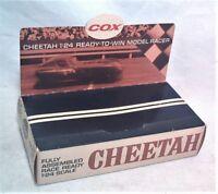 OLD COX 1/24 CHEETAH SLOT CAR DISPLAY BOX - COMPLETE - ALL ORIGINAL - VERY NICE