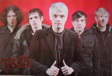 """MY CHEMICAL ROMANCE """"GROUP WEARING JACKETS BY RED WALL"""" POSTER FROM ASIA - Emo"""