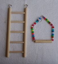 New listing Small Ladder and Small Beaded Swing for smaller birds parakeet love bird finch