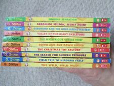 GERONIMO STILTON LOT 10~20's & 30's~WILD WEST~NIAGARA FALLS~SUNKEN TREASURE~GOLD