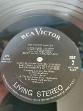 Q14. RCA LIVING STEREO  MAY 1962 POP SAMPLER LP  EX CONDITION