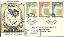 Malta - 1960 - Sg 301_3 - reg fdc - E2R 100 anni ½ yellow - Valletta 01dec60