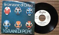 """I GRANI DI PEPE / LA CANZONE DI ORFEO - 7"""" (Italy 1978 - PROMO) RARE ITALO-DISCO"""