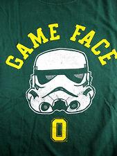 U of O Ducks Star Wars Shirt Storm Trooper Mask Game Face Oregon Rare Civil War