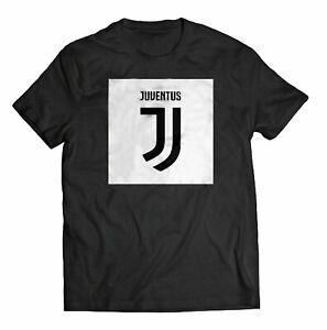 T-shirt Juventus Nera girocollo manica corta uomo 100% cotone maglia Juve 1-17