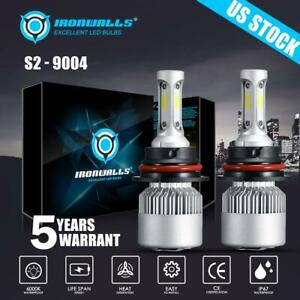 2000W 300000LM LED Headlight Kit HB1 9004 Hi/Low Beams 6000K White Light Bulbs