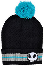 Jacke Skellington Beanie Hat Knitted Pom Nightmare Before Christmas Disney Cap