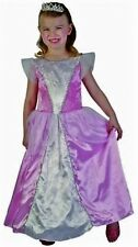 Girls Princess Fancy Dress Baby Pink Costume with Tiara Toddler 2-4 Yr Book Day