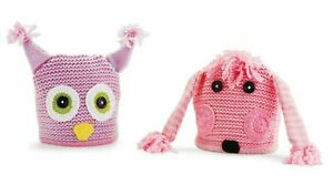 Mud Pie Baby Toddler Girl Owl OR Poodle Knit Acrylic Hat 3T-5T 173099