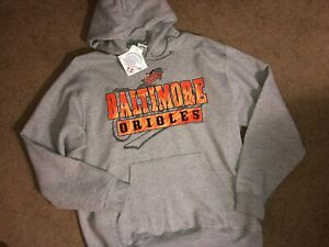 NWT! AUTHENTIC MAJESTIC BALTIMORE ORIOLES HOODED SWEATSHIRT HOODIE MENS L (LARGE