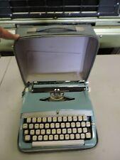 Vintage Brother Deluxe Blue Metal Typewriter in Case (VE)