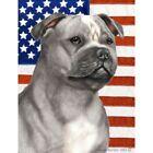 Patriotic (D2) Garden Flag - Blue and White Staffordshire Bull Terrier 322481