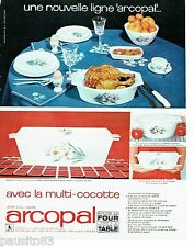PUBLICITE ADVERTISING 116  1966  Arcopal verre feu trempé la multi-cocotte