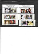 SOLOMON ISLANDS, SC 1001-06 a-b (se-tenent pairs). 2005 Royal Year issue. CV $35