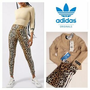 Adidas formation tee & leopard legging outfit set XS