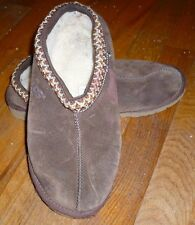 UGG Australia Uggs Brown Sheepskin Slippers Hardsole Shoes Size 5