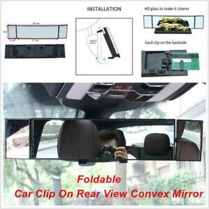 Car SUV Clip On Rear View Wide-angle Lens Convex Mirror Driving Safety Universal