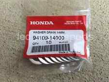 x10 Honda Acura 14mm Engine Oil Drain Plug Crush Washer Gaskets 94109-14000 New!