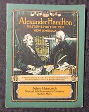 Vintage ALEXANDER HAMILTON John Hancock Life Insurance Co. VG+ 4.5 Booklet