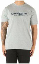 Carhartt WIP Script S/S Tee Grey Heather/Navy