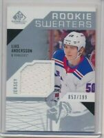2018-19 SP Game Used Rookie Sweaters Jersey Lias Andersson /199 NY Rangers