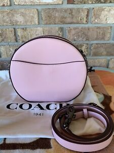 Coach Leather Canteen Crossbody In Blossom Pink
