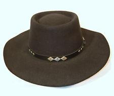 Black Stetson USA The Gun Club Hat 6 7/8 Cowboy Western Vintage XXXX