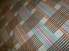 MARTEX TWIN FLAT SHEET RETRO GEOMETRIC PATTERN BROWN BEIGE BLUE RUST