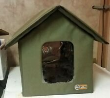 K&H Pet Products Portable Cat House Shelter w/ 2 Door Flaps Cat Small Dog Animal