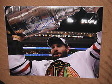 CHICAGO BLACKHAWKS TROY BROUWER SIGNED STANLEY CUP 11X14