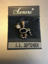 New Dog/Cat Birthstone Pendant Charm Sterling Silver .925 September Sapphire Gem